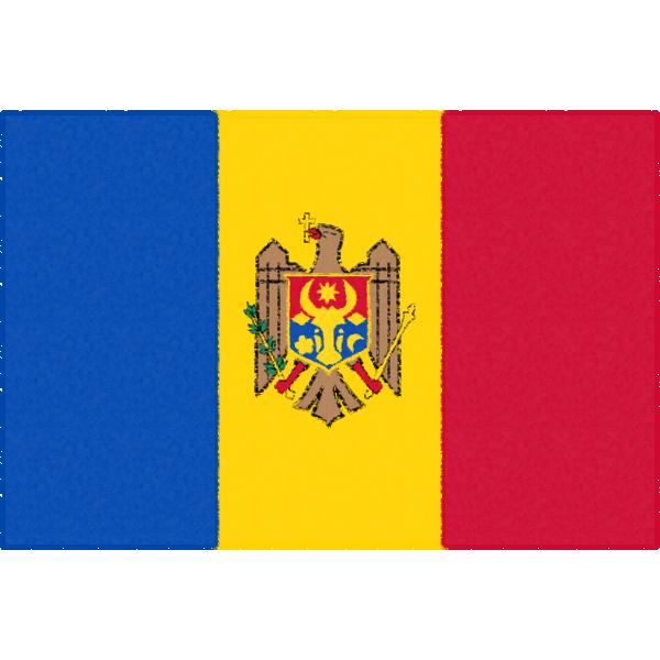 モルドバの国旗イラストフリー素材