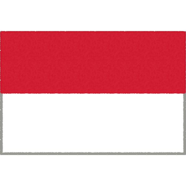 モナコの国旗イラストフリー素材