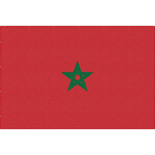モロッコの国旗イラストフリー素材