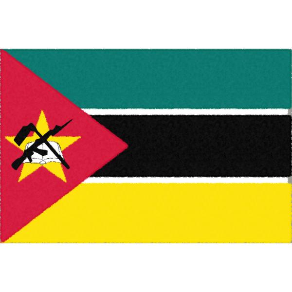 モザンビークの国旗イラストフリー素材