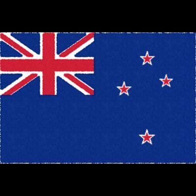 ニュージーランドの国旗イラストフリー素材