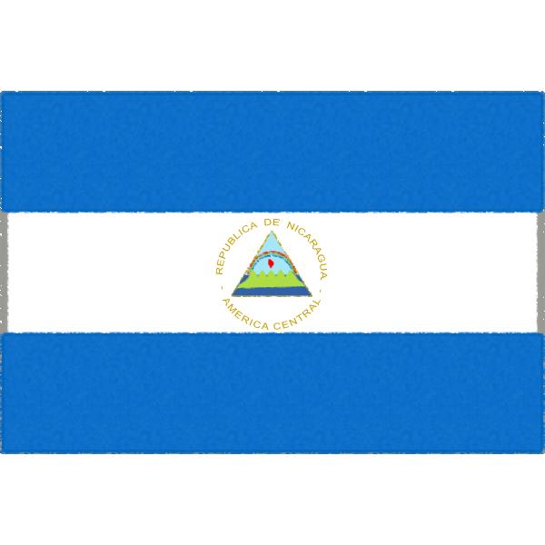 ニカラグアの国旗イラストフリー素材