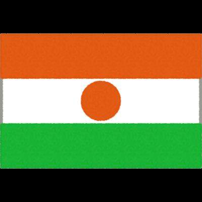 ニジェールの国旗イラストフリー素材