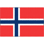 ノルウェーの国旗イラストフリー素材
