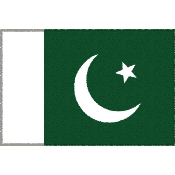 パキスタンの国旗イラストフリー素材