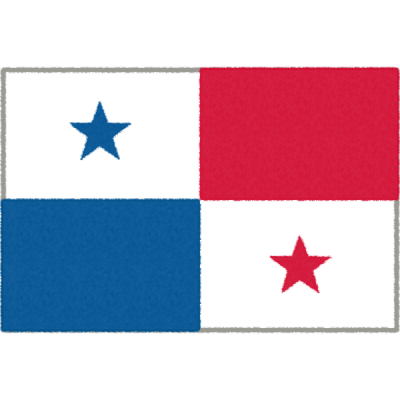 パナマの国旗イラストフリー素材