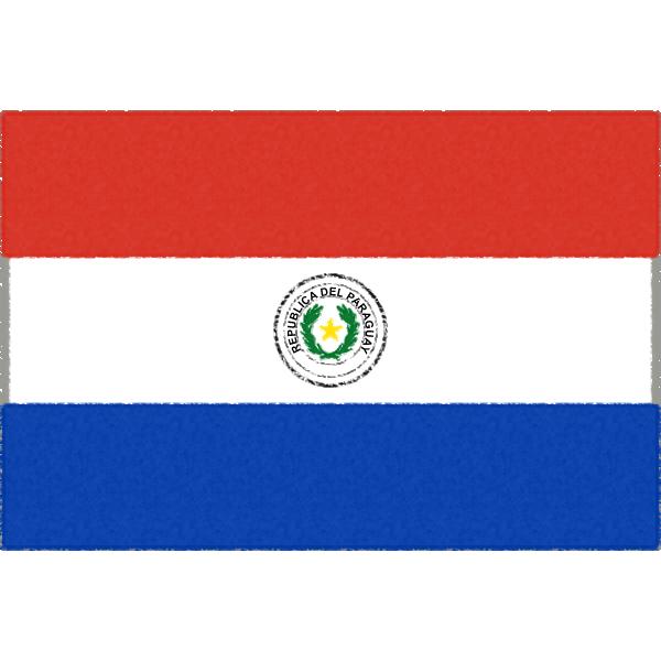 パラグアイの国旗イラストフリー素材