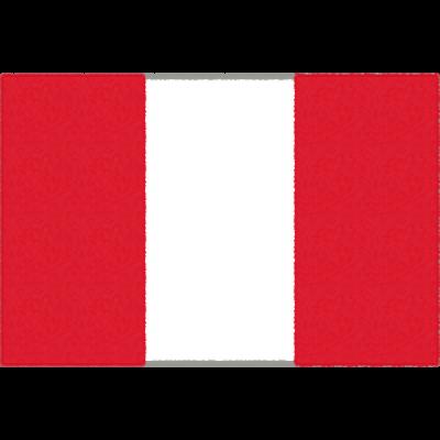 ベルーの国旗イラストフリー素材