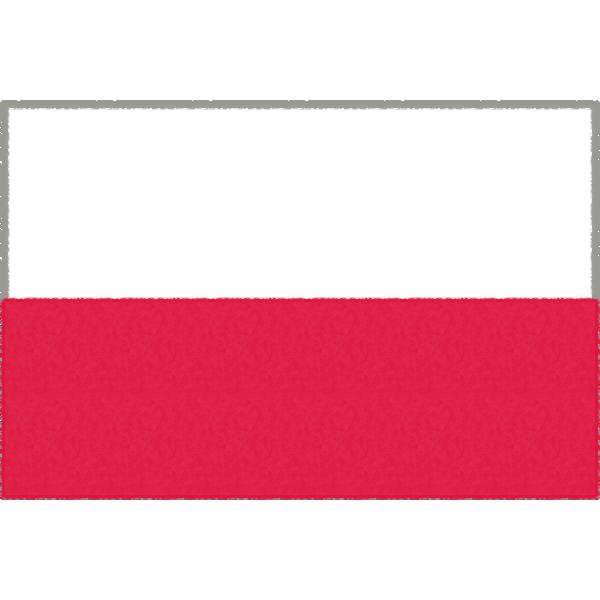 ポーランドの国旗イラストフリー素材