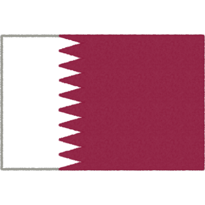 カタールの国旗イラストフリー素材