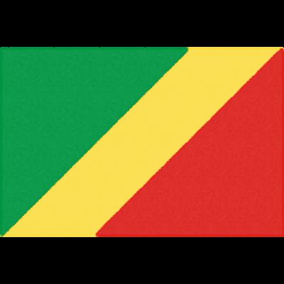 コンゴ共和国の国旗イラストフリー素材