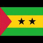 サントメ・プリンシペの国旗イラストフリー素材