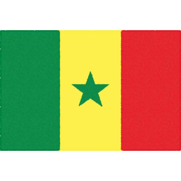 セネガルの国旗イラストフリー素材
