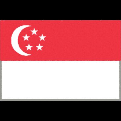 シンガポールの国旗イラストフリー素材