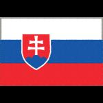 スロバキアの国旗イラストフリー素材