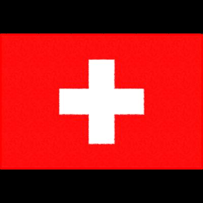 スイスの国旗イラストフリー素材