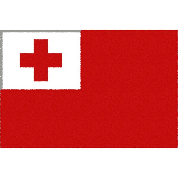 トンガの国旗イラストフリー素材