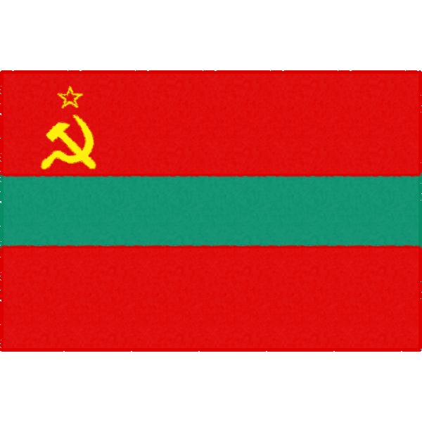 沿ドニエストル共和国の国旗イラストフリー素材
