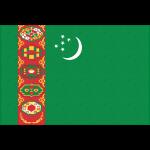 トルクメニスタンの国旗イラストフリー素材