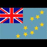 ツバルの国旗イラストフリー素材