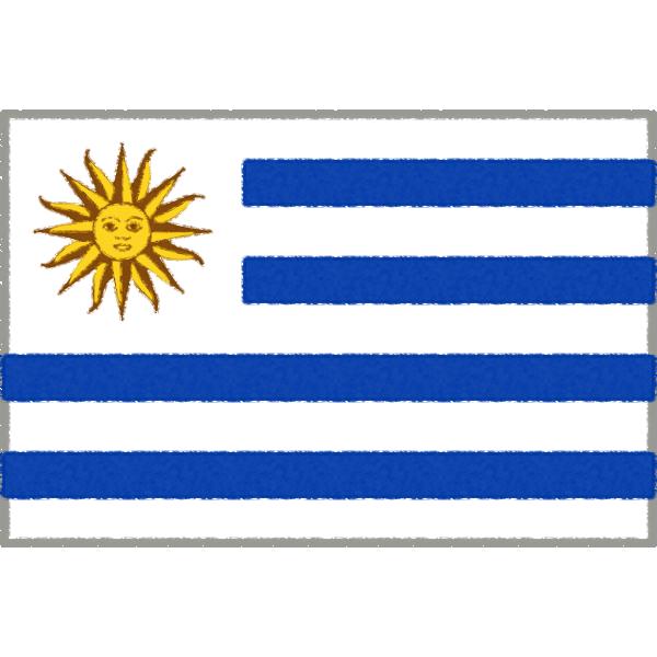 ウルグアイの国旗イラストフリー素材
