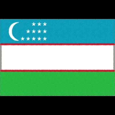 ウズベキスタンの国旗イラストフリー素材