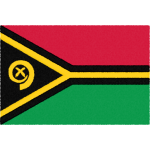 バヌアツの国旗イラストフリー素材