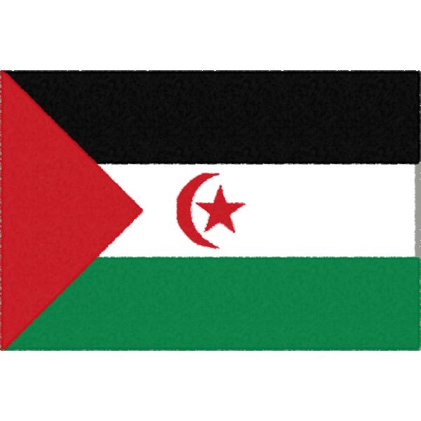 西サハラの国旗イラストフリー素材