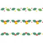 柊(ヒイラギ)のライン飾り罫線