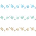 雪の結晶のライン飾り罫線