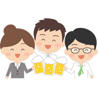 飲み会(忘年会・新年会・歓迎会)のイラスト