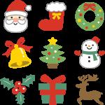 可愛いクリスマスアイコンセット