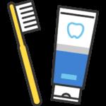 歯ブラシと歯磨き粉のイラスト