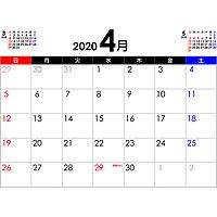 PDFカレンダー2020年4月