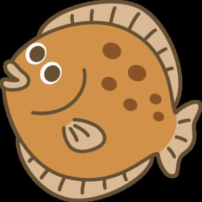 ヒラメのイラスト