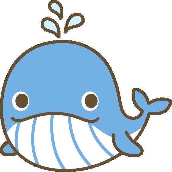 鯨(クジラ)のイラスト