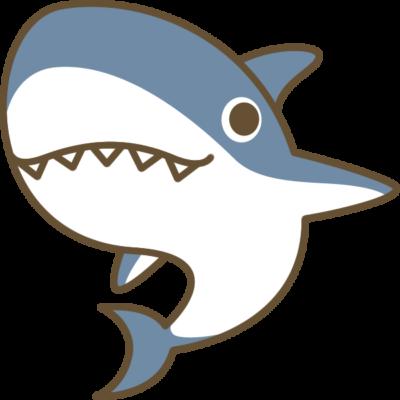 鮫(サメ)のイラスト