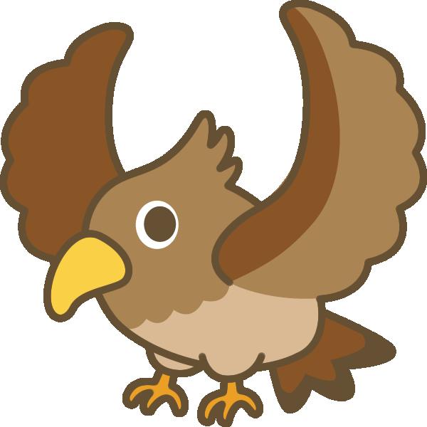 鷹(タカ)のイラスト