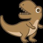 恐竜(ティラノサウルス)のイラスト