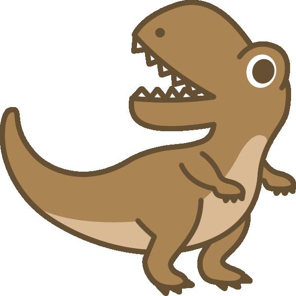 恐竜ティラノサウルスのイラスト 無料フリーイラスト素材集frame