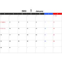 2023年エクセルカレンダー(月曜始まり)