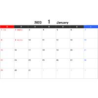 2023年エクセルカレンダー(日曜始まり)
